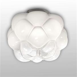 Fabbian Pilvimäinen LED-kattovalaisin Cloudy, 26 cm