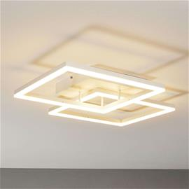 Fabas Luce Moderni LED-kattolamppu Bard valkoisena