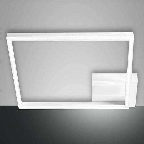 Fabas Luce Neliön mallinen LED-kattolamppu Bard 1-lamppuinen