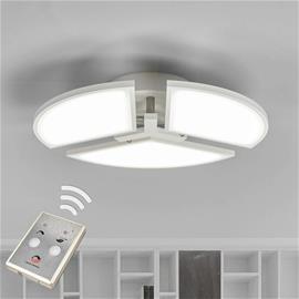 Lampenwelt.com LED-kattovalo Aurela, valkoinen, 3-lamppuinen