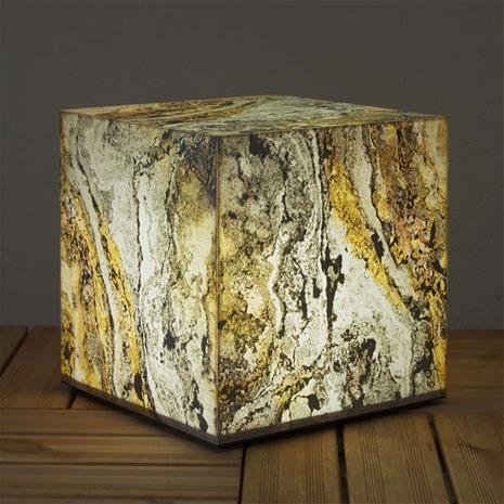 Epstein Koristeellinen luonnonliuske kuutiovalaisin, 39 cm