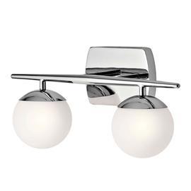 KICHLER Jasper -kylpyhuoneen LED-seinävalaisin, 2 lamppua