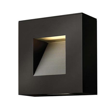 HINKLEY Lunias-LED-ulkoseinälamppu mustana