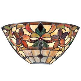 QUOIZEL Värikäs Kami-seinävalo Tiffany-tyylillä