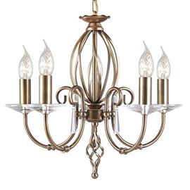 Elstead Kaunis viiden lampun Aegean-kattokruunu