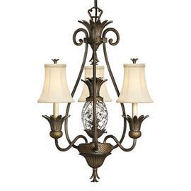 HINKLEY Kaunis Plantation-kattokruunu, 3 lamppua