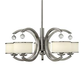 HINKLEY Moderni nikkelinen 5 lampun MONACO-riippuvalaisin