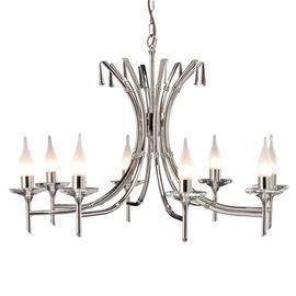 Elstead BRIGHTWELL-kattokruunu nikkeliä, 8 lamppua