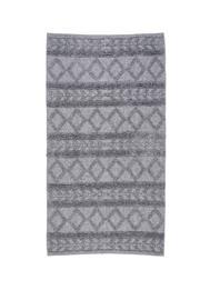 KOODI Stina -puuvillamatto, harmaa, 80 x 150 cm
