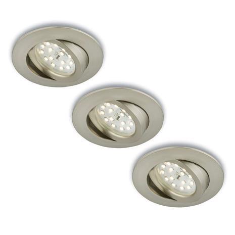 Briloner Kierrettävä LED-uppokohdevalo, 3 kpl, mattanikkeli