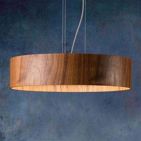Domus Pähkinäpuinen riippuvalo Lara Wood led-lampuilla