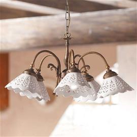 Ceramiche Riippuvalo Semino, keramiikkavarjostimet 5 lamppua