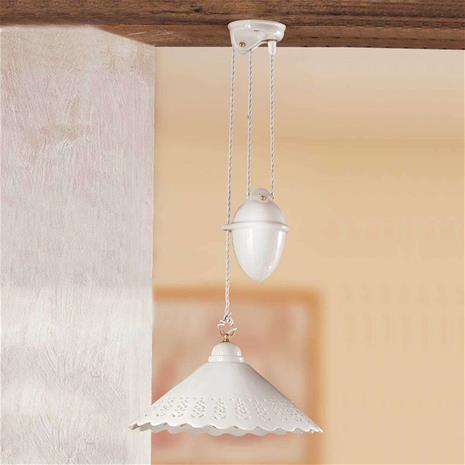 Ceramiche Pizzo-riippuvalo heilurivedolla, 1-lampp., 40 cm