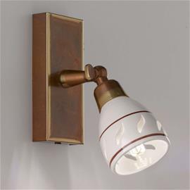 Cremasco Pieni seinäkohdevalaisin, keramiikkavarjostin