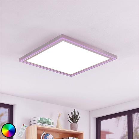 Lampenwelt.com LED-kattovalaisin Lynn CCT+RGB kulmikas 60x60 cm