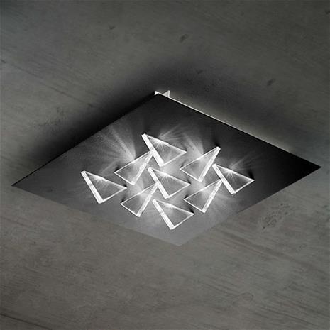 BRAGA Kimaltava LED-kattovalaisin Cristalli, musta