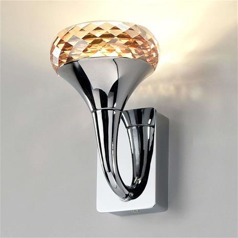 Axo Light Kristallinen Fairy-design-LED-valaisin, meripihka