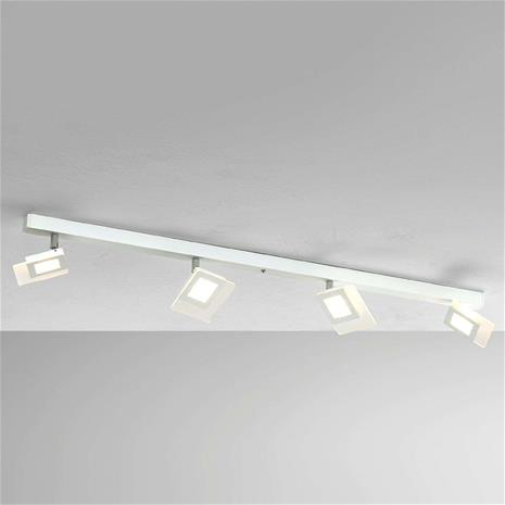 BOPP Nelilamppuinen LED-kattovalaisin Line, valkoinen