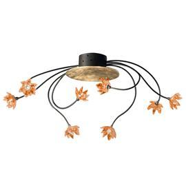 Kögl Kukikas FIORELLA-kattovalaisin 8 lamppua, ambra