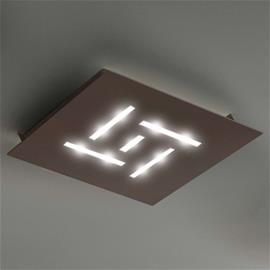 BRAGA Erittäin litteä LED-kattovalaisin Pattern, ruskea