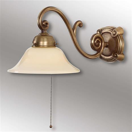 Berliner Messinglamp Antiikkityylinen Ella-seinävalaisin messinkiä