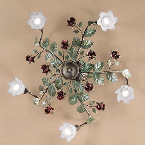 Kögl Rosaio-kattolamppu, pyöreä, 5-lamppuinen