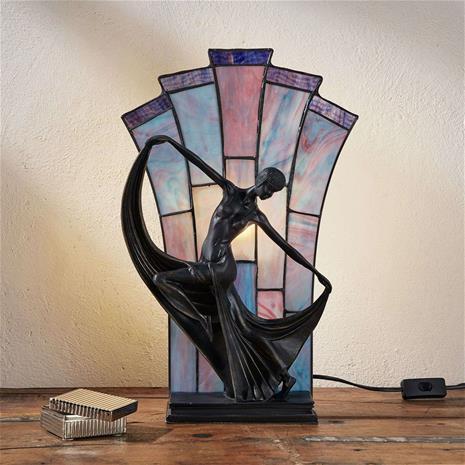 Artistar Viehättävä Tiffany-tyylinen Flamina-pöytävalaisin
