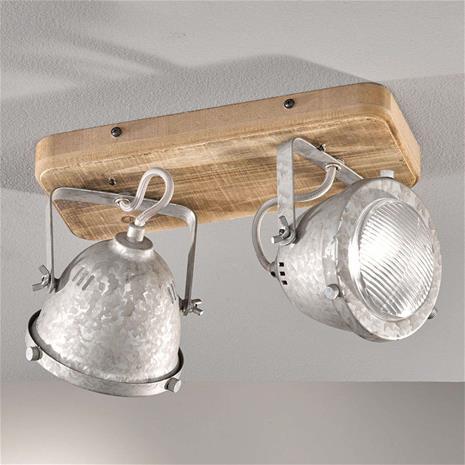 FISCHER & HONSEL Puinen kattolamppu Old 2-lamppuinen