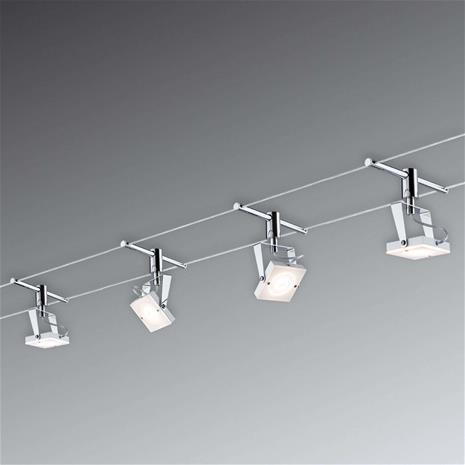 Paulmann Täysvaijerijärjestelmä LED Meta 4 lamppua