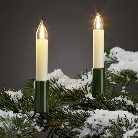 Hellum Ulkovaloketju LED-filamenttikynttilöillä 20-lampp.