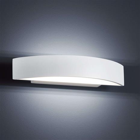 Helestra Moderni LED-seinävalaisin Yona, mattavalk, 27,5 cm