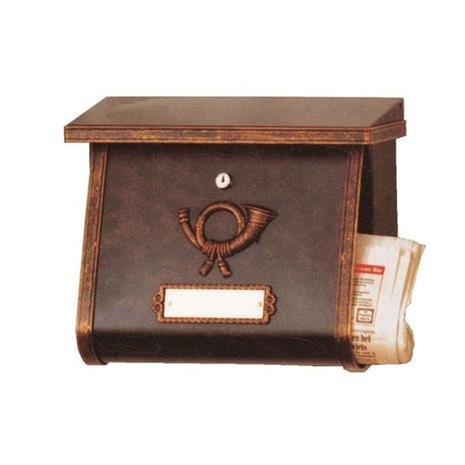Heibi Postilaatikko MULPI, ruskea-kultainen patinointi