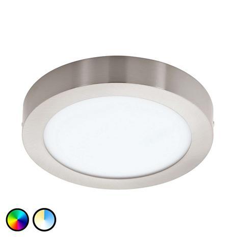 EGLO CONNECT Fueva-Connect LED-kattovalaisin, 22,5 cm, nikkeli