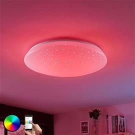 Lucande LED-kattolamppu Jelka, WiZ, RGBW -värin vaihto