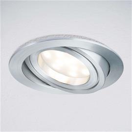 Paulmann LED-uppovalaisin Coin pyöreä IP23 alum kiert 3 kpl