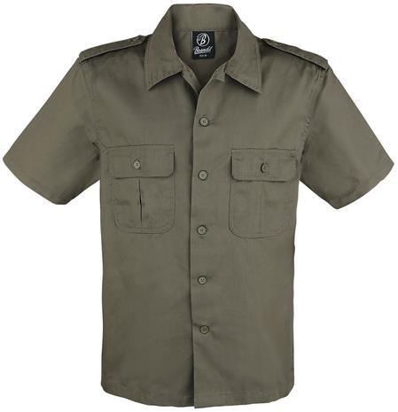 Brandit - 1/2 Sleeve US Shirt - Lyhythihainen kauluspaita - Miehet - Oliivi