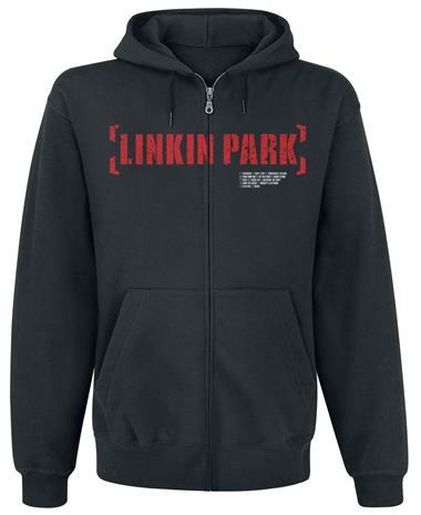 Linkin Park - Meteora Red - Vetoketjuhuppari - Miehet - Musta
