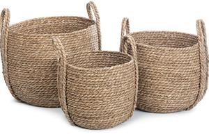 KidsDepot Kurv Säilytyskorit 3-pack, Seagrass