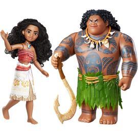 2-Pack Disney Vaiana/Moana Maui The Demigod Doll Nukke