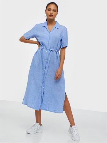Gant D2. Linen Chambray Ss Shirt Dress
