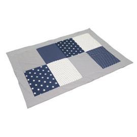 ULLENBOOM® Peitto tilkkutäkki 100 x 140 cm tähdet sininen