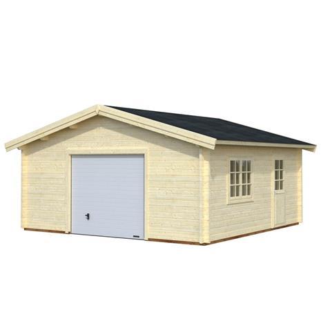 Roger-autotalli, 27,7 m², nosto-ovi