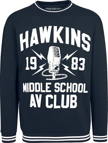 Stranger Things - Hawkins Middle School - Svetari - Miehet - Tummansininen