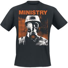Ministry - Gas Mask - T-paita - Miehet - Musta