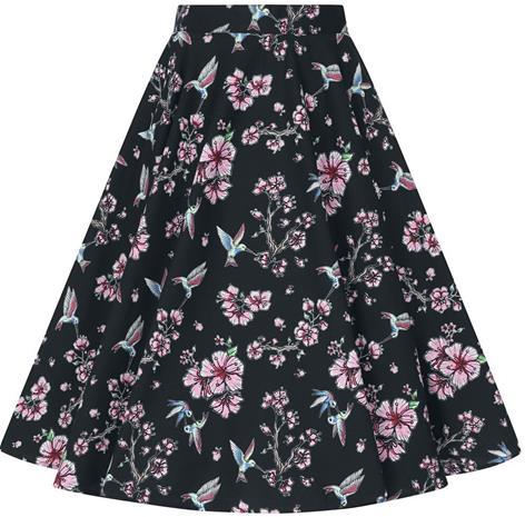 Hell Bunny - Madison 50's Skirt - Keskipitkä hame - Naiset - Musta