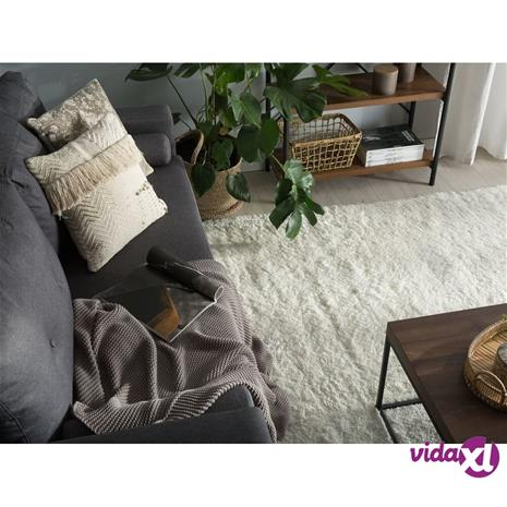 Beliani Valkoinen matto 200x200cm EVREN