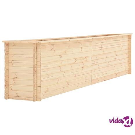 vidaXL Kukkalaatikko 450x50x80,5 cm mänty 19 mm