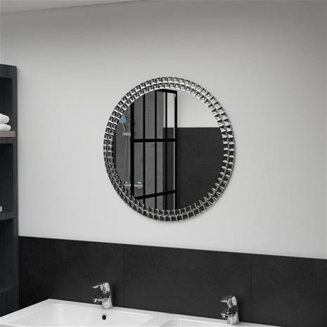 vidaXL Seinäpeili pyöreä 60 cm karkaistu lasi