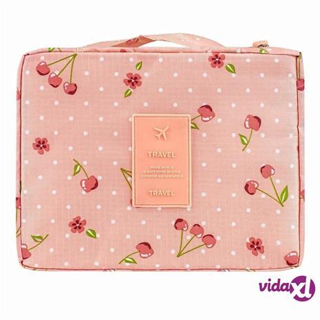 eStore Matkatoalettilaukku - Vaaleanpunainen Kirsikoilla