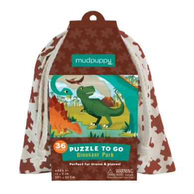 mudpuppy Puzzle To Go - Dinosauruspuisto